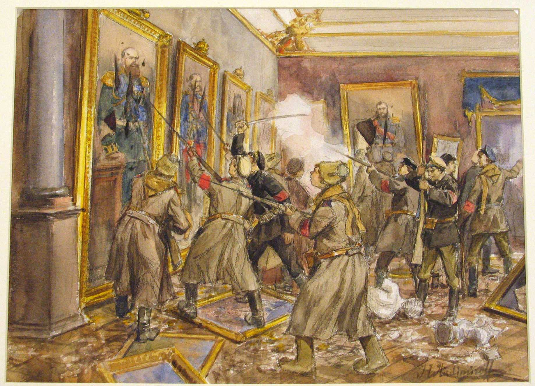 Ужасы Октябрьского переворота на рисунках очевидца.