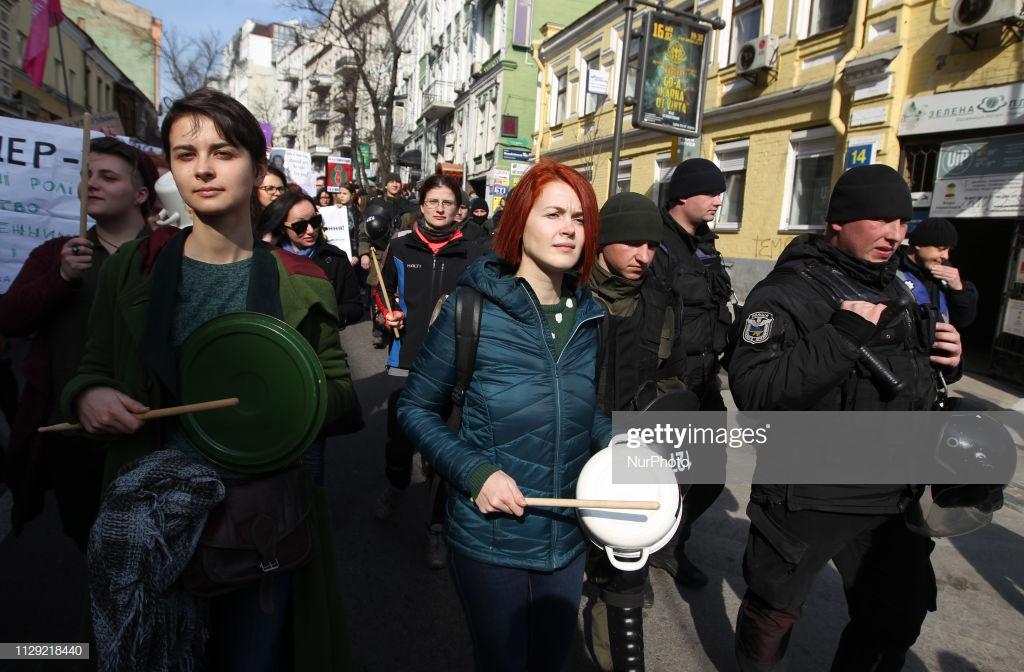 Как в Киеве восьмое марта отметили (фото).