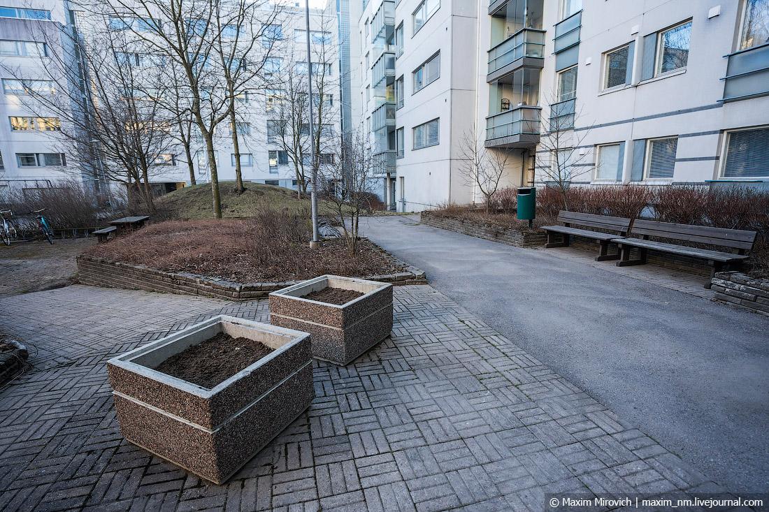 Как выглядят спальные районы Финляндии.