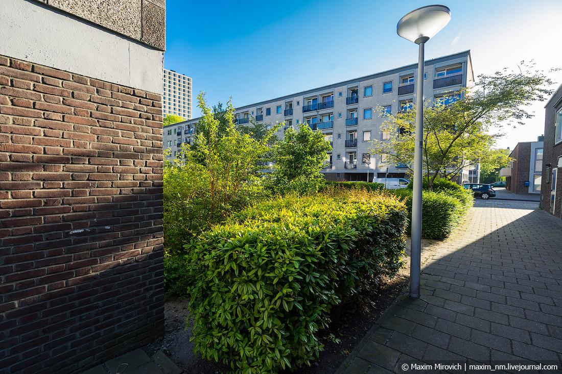 Как выглядят «хрущёвки» в Амстердаме.