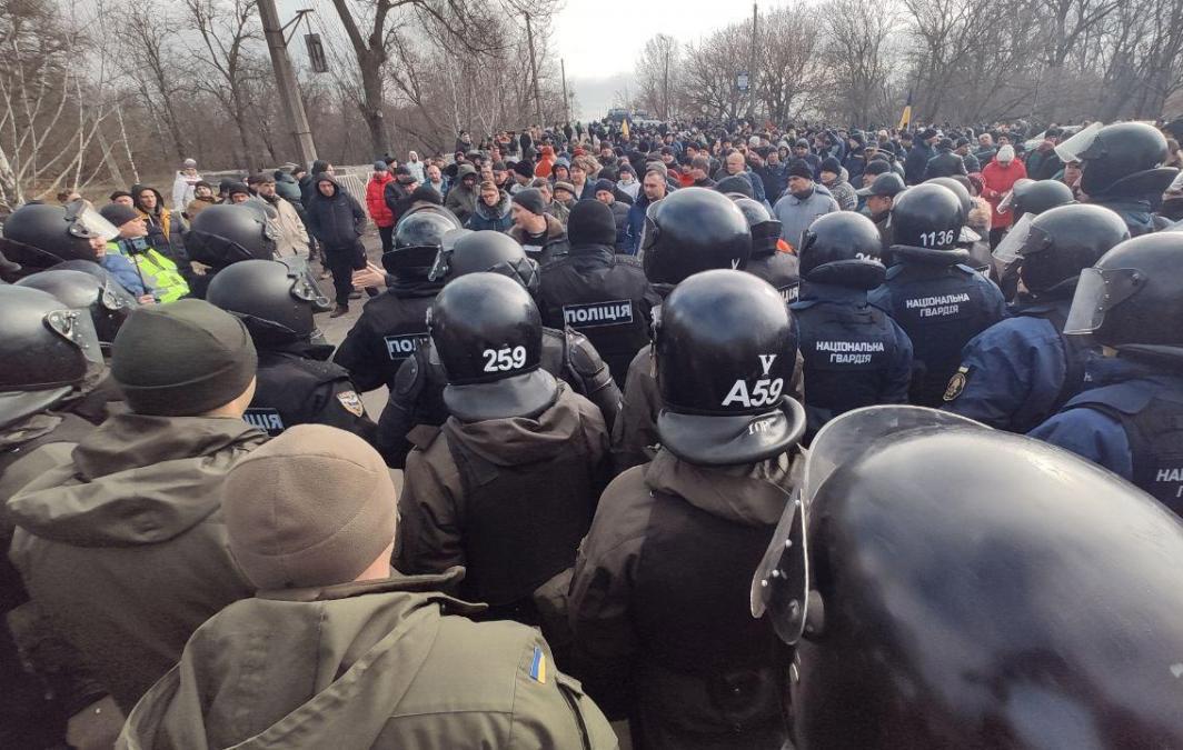 Украина. Что случилось в Новых Санжарах.