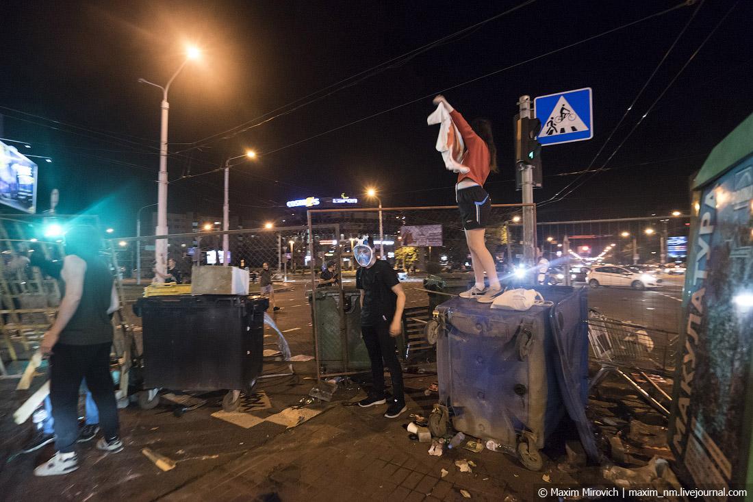 Беларусь протестует. В Минске баррикады