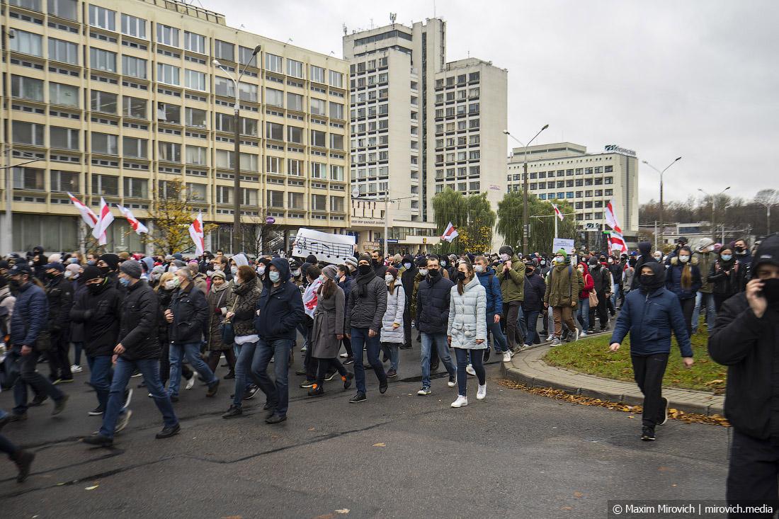 Минск. Марш тысячи арестов.