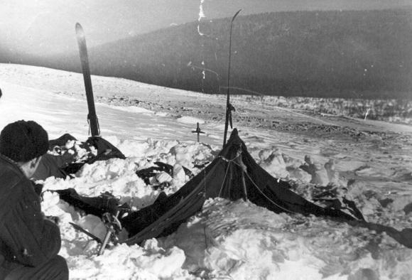 найденная палатка на склоне
