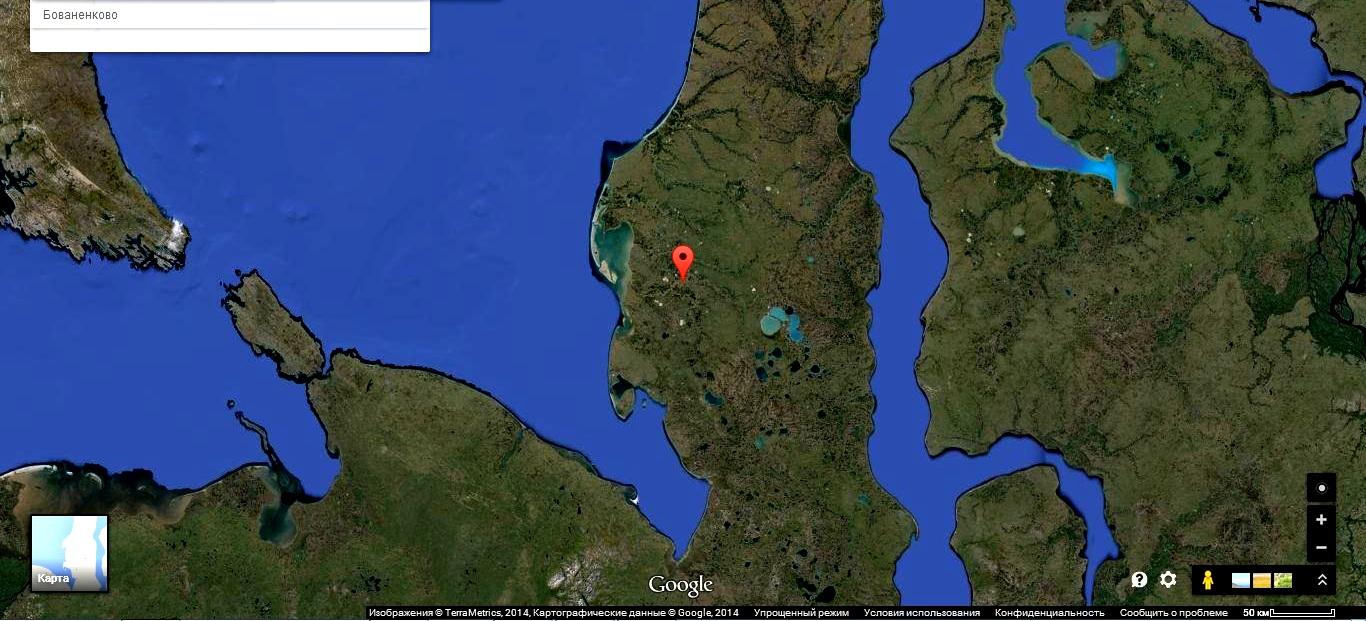 Баваненково на картах Google 1