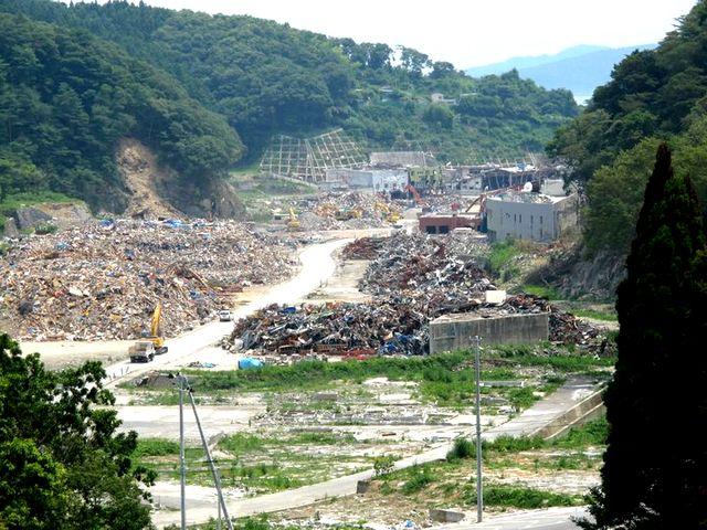 Япония, разрушения