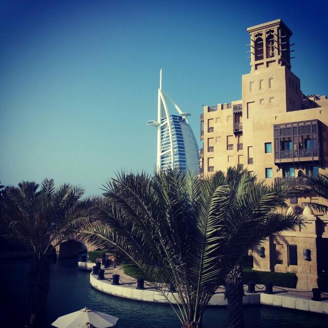 Dubai Burj Al Arab Madinat Jumeirah view