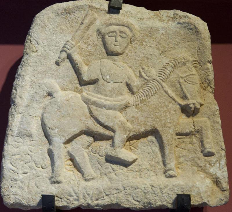 Stele of Promise (region Kibyra). Anatolian rider deity Kakasbos.jpg