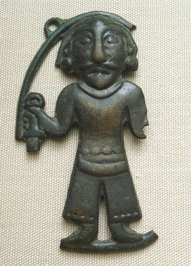 Бронзовая статуэтка мужчины, Ордос, III—I века до н. э.JPG