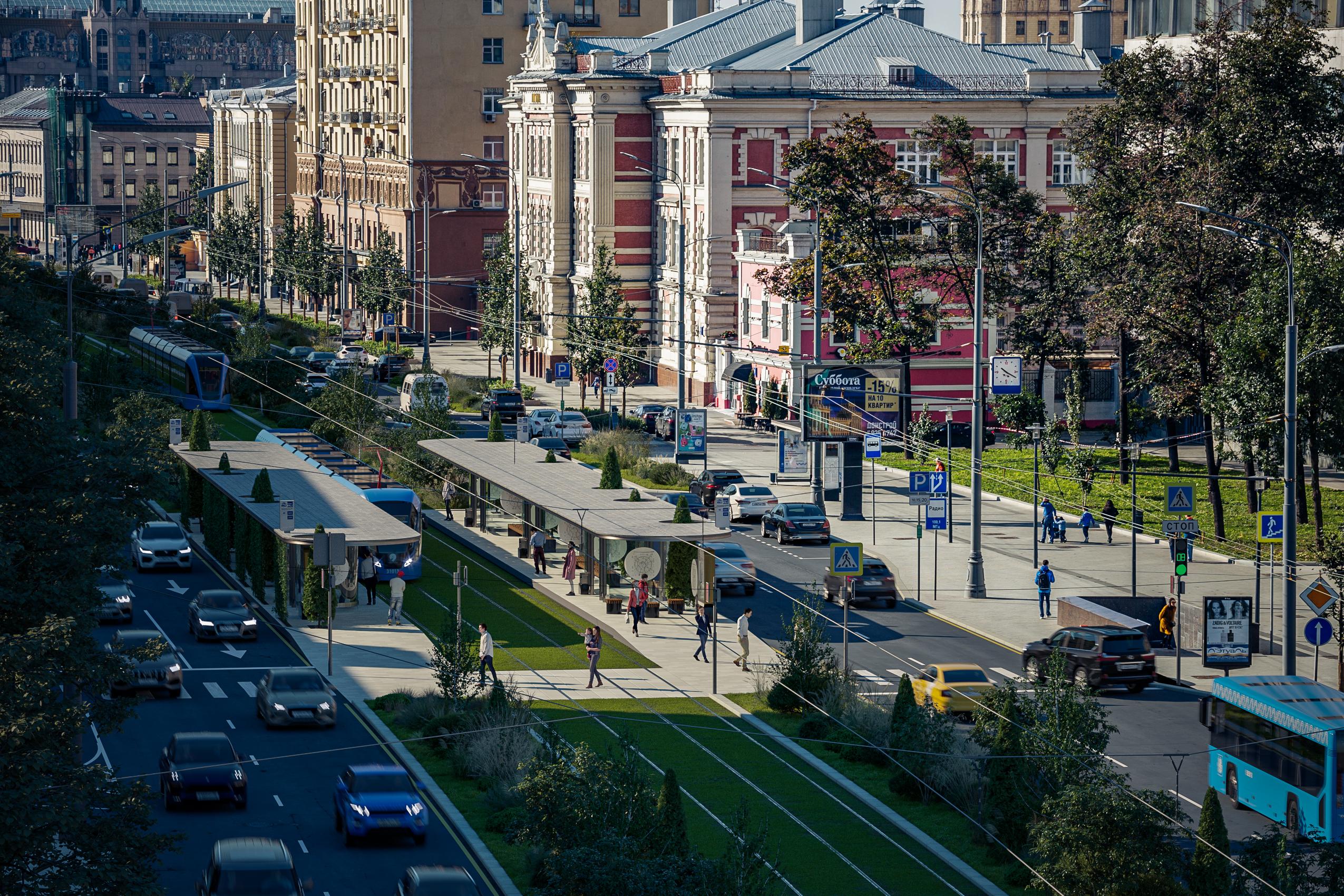 Трамвай на Садовом