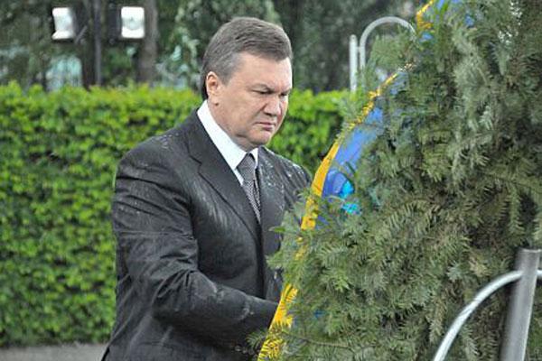 Венок от Януковича