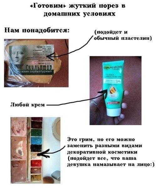Как сделать искусственный шрам на лице