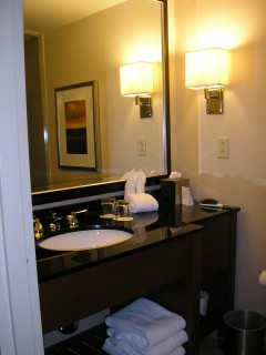 Beautiful, simplistic bathroom, all for me?
