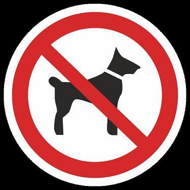 собакам вход воспрещён 1