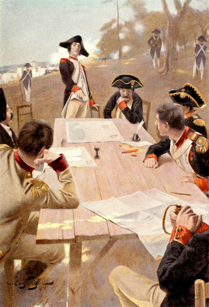 Капитан Бонапарт планирует битву под Тулоном 1793 г. Жан Мишель Андре Констан