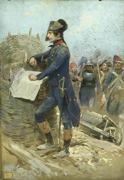 Наполеон во время осады Тулона 1793 г.
