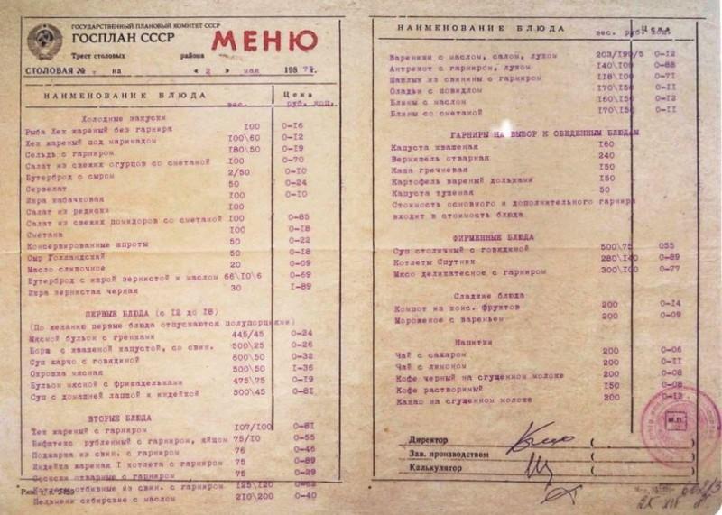 Подавали в советском ресторане 4