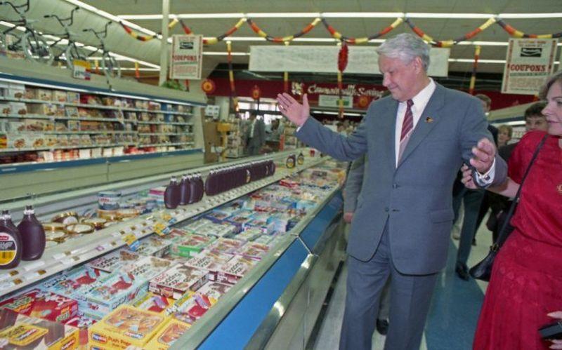 Из недавней истории. Ельцин в супермаркете