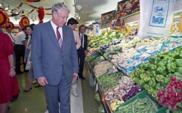 Из недавней истории. Ельцин в супермаркете Ельцин, супермаркета, Ельцина, магазина, Борис, магазин, Николаевич, только, ассортимент, администратор, Когда, после, Хьюстон, такого, колбас, жизнь, супермаркет, может, можно, очереди