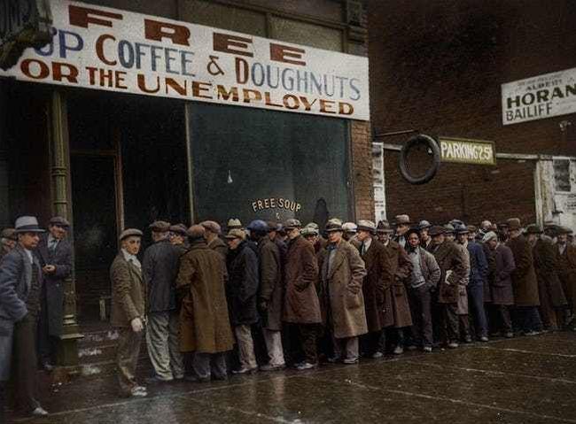 Каковы были потери США от Великой депрессии?