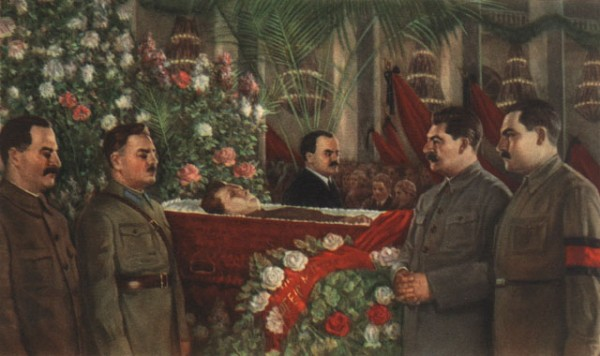 L.Markov. Почетный караул у гроба Кирова