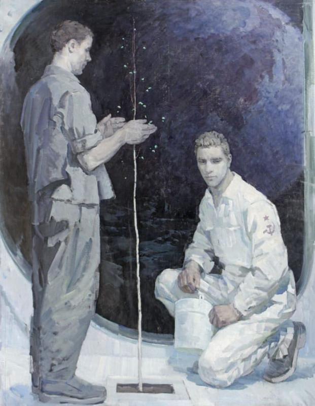 Космофутуристика в живописи. В СССР и наше время