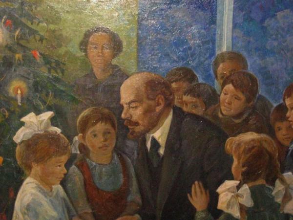 Неизвестный художник.В.И.Ленин на ёлке.