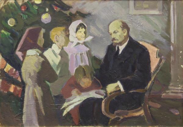 Павел Семячкин. Ленин на елке. 1950-е годы
