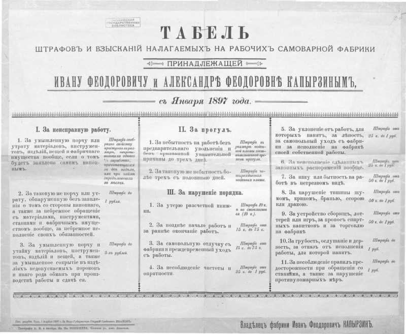 Про отрицательную зарплату и историю штрафов в России