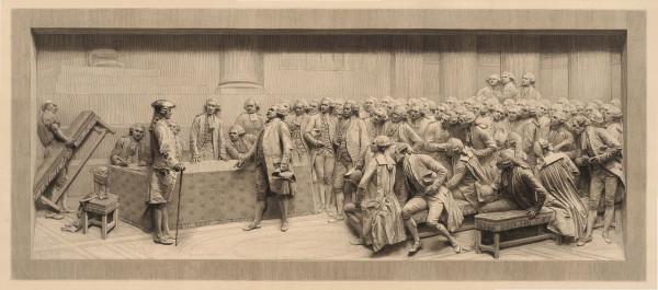 de_breze02 Мирабо отвечает Дрё-Брезе (1889) Огранка выгравирована Альфонсом Ламотом с горельефа Жюля Далу (1883)
