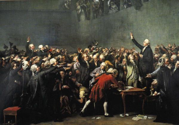 Auguste Couder (1789-1873) Le Serment du Jeu de Paume a Versailles le 20 juin 1789 (1848)