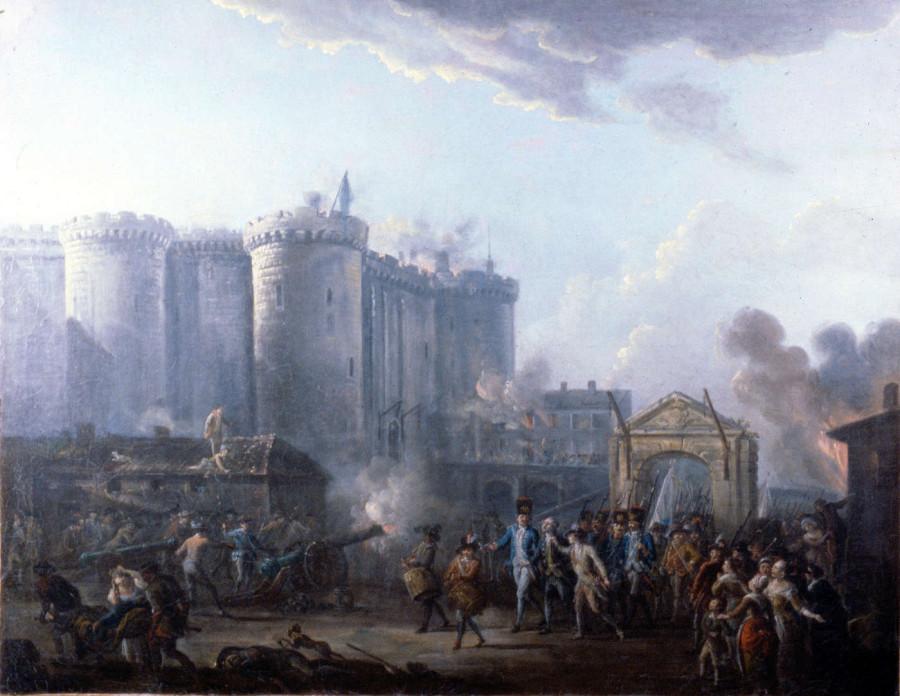 Jean-Baptiste Lallemand_-_Arrestation_du_gouverneur_de_la_Bastille_-_1790