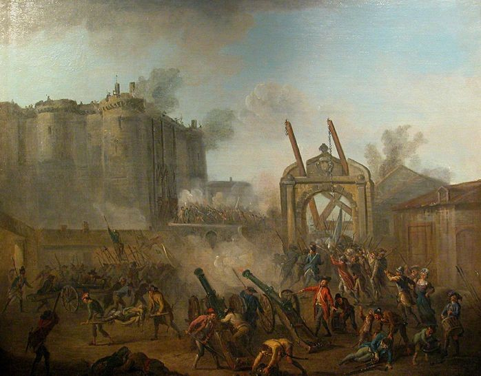 La prise de la Bastille le 14 juillet 1789