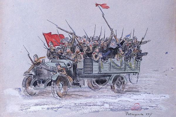 gruzovik02 Луи де Робьен. Петроград, 1917 год.