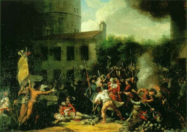 La prise de la Bastille. Charles Thevenin.