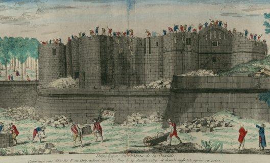 Demolition du Chateau de la Bastille  v. 1790