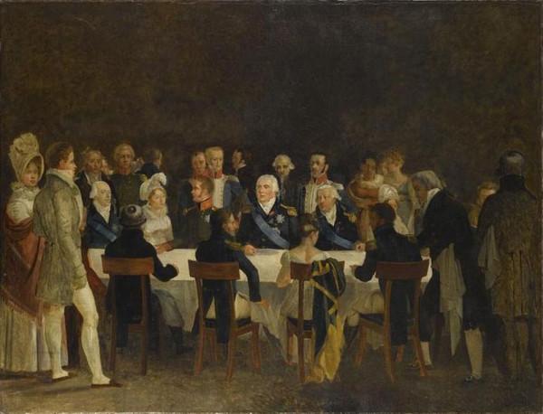 Обед короля Людовика XVIII и царя Александра I в Компьене. XIX век