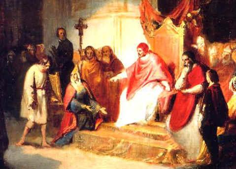 Генрих IV и Григорий VII в Каноссе в 1077 картина Карло Эммануэля