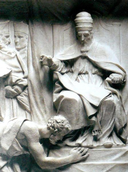 Генрих IV и Григорий VII в Каноссе 28 января 1077 года надгробие