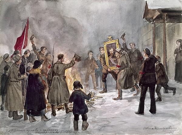 Иван Владимиров. Сжигание орлов и царских портретов