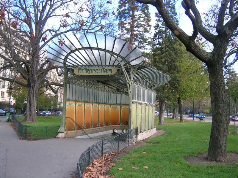 павильон входа в метро porte Dauphine