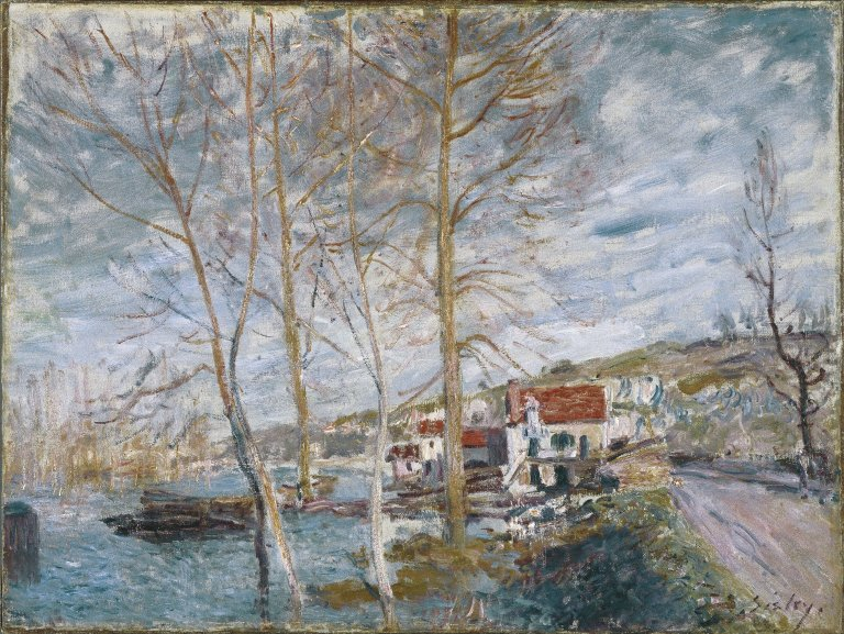 Brooklyn_Museum_-_Flood_at_Moret_(Inondation_à_Moret)_-_Alfred_Sisley_-_overall