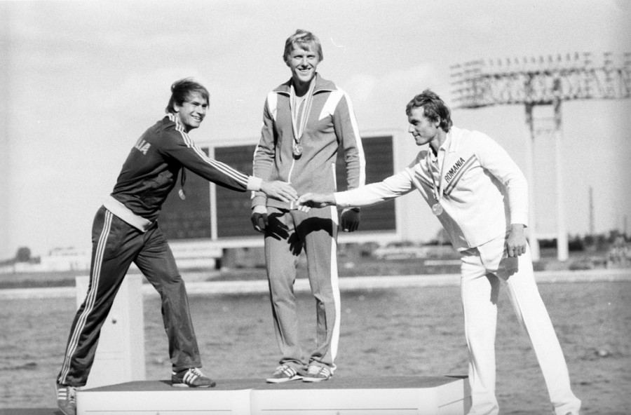 RIAN_archive_578007_Winners_of_1980_Olympiad_in_rowing_and_canoeing_(single_sculls)