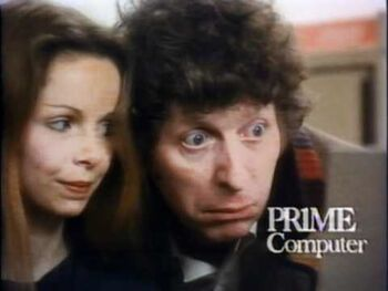 Doctor Who's Tom Baker and Lalla Ward