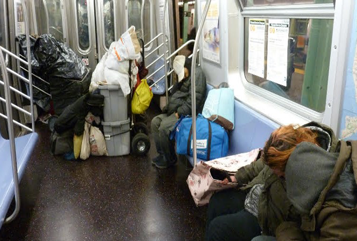 NYC Transit: The flop-house for the homeless?  What can be done?