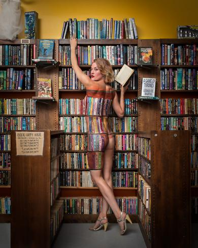 cici-james-by-bill-wadman-body-paint-librarian-nude-book