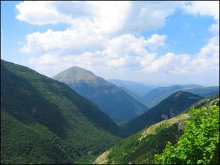 Veduta dei monti sibillini
