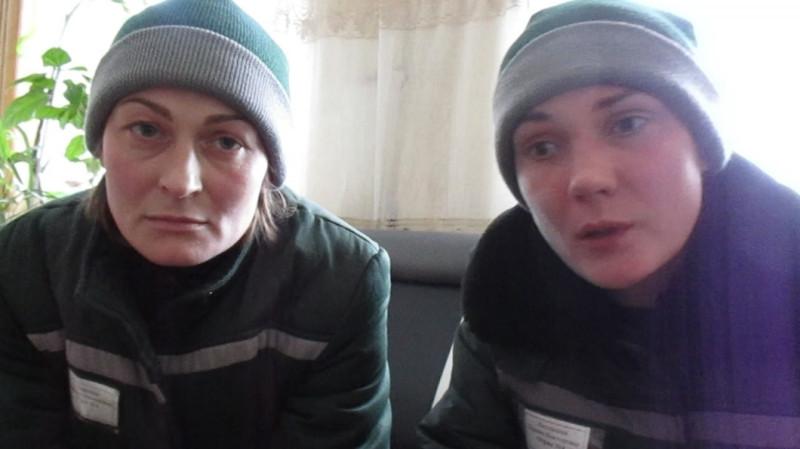 Анастасия Порохина и Карина Хаславская. Кадр из видео