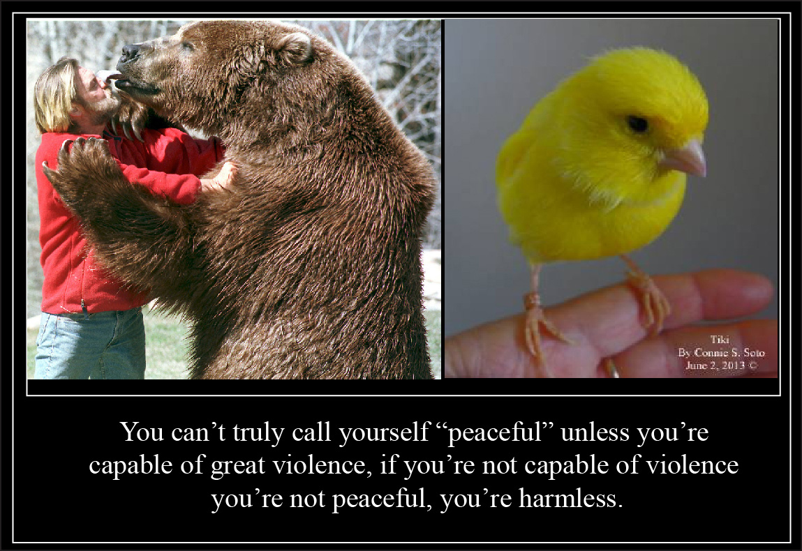 YOu can truly call yourself peaceful