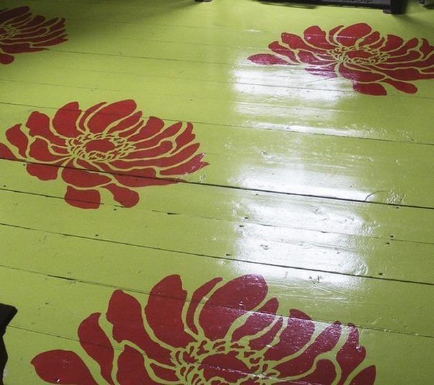 Трафареты рисунка на деревянном полу